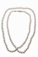 Mikimoto Opera Necklace With 18K Yellow Gold Clasp MSRP $24,950
