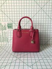 NWT Michael Kors Adele Medium Pebbled Leather Satchel Messenger Bag Ruben Red