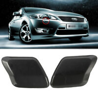 Pair Headlight Headlamp Washer Jet Cover Cap For Ford Mondeo MK4