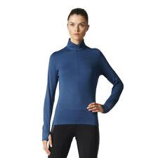adidas Donna Climaheat 1/2 Zip Top Blu Marino Sport Outdoor Caldo Traspirante