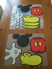 Rare Set Of 4 Mickey Mouse Body Parts Placemats Authentic Original Disney Parks