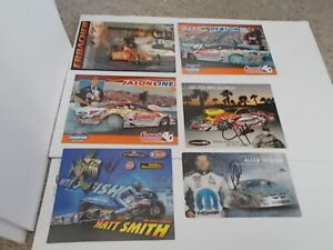 NHRA Hero Cards Lot of 6 all SIGNED 4 Pro Stock Car 1 Pro Stock Bike 1 Top Fuel