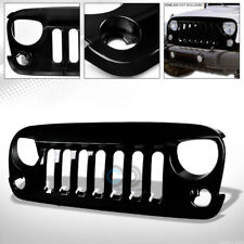 GLOSSY BLK ANGRY BIRD VERTICAL FRONT HOOD BUMPER GRILL GRILLE 07-18 WRANGLER JK