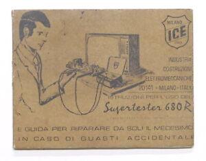 Radiotecnica - Libretto istruzioni per l'uso del Supertester 680R - ICE Milano