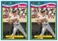 (2) 1988 Topps Toys R' Us Rookies Baseball 19 Mark McGwire Lot Athletics