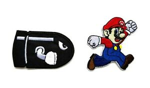 Mario Brothers Bullet Bill Embroidered Sew/Iron on Patch Nintendo Super Bros