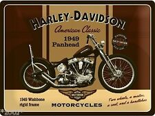 Nostalgic Art Harley Davidson Panhead Motorcycles Blechpostkarte Schild #
