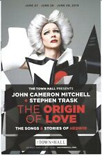 THE ORIGIN OF LOVE Playbill JOHN CAMERON MITCHELL Hedwig and the Angry Inch