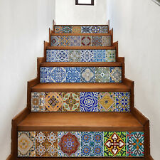 Walplus Vintage Spanish Tiles Home Decor Stairs Stickers, Decals, DIY Art, Home