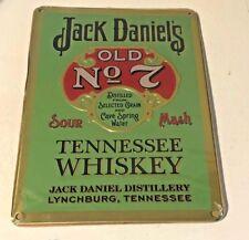 JACK DANIELS METAL SIGN - PLAQUE TIN HOME DECOR PUB BAR WALL DISPLAY SIGNAGE