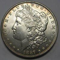 Beautiful Uncirculated 1887 Morgan Silver Dollar Grading GEM BU   C92