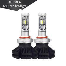 2pc X3 9006 ZES COB 50W Hi/Lo 6000LM Car LED Headlight Bulb Conversion Kit 6500K