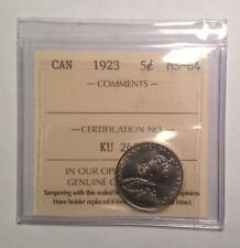 MS64 1923 5 CENT ICCS GRADED MS64