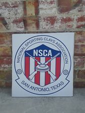 "National Sporting Clays Association San Antonio Texas 18""x18 1/2' Cardboard Sign"