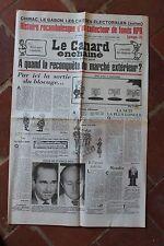 JOURNAL ANNIVERSAIRE LE CANARD ENCHAINE ACTUALITE SATIRIQUE DU 20 OCTOBRE 1982