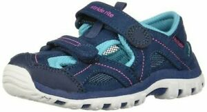 NIB STRIDE RITE Outdoor Athletic Shoes Sandals Jayden Navy Turquoise Pink 8.5 W