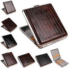 Leather Metal Cigarette Box Pouch Case Holder Tobacco Storage Container Aluminum