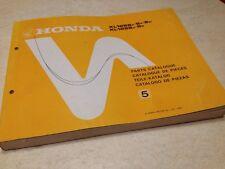 Honda parts list XL125S 125 XLS édition 1982