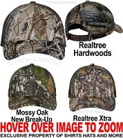 Camo Mesh Back Baseball Cap Hunting Hat Mossy Oak Realtree Hardwoods Xtra NEW