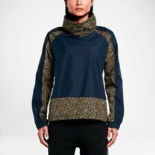 WOMENS NIKE X LIBERTY PULLOVER QS SIZE S (802468 451) OBSIDIAN/TAN JACKET