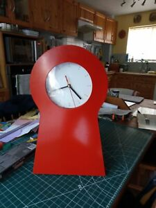 1995 Retro Red Ikea Clock Cabinet Keyhole