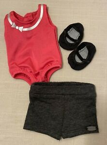 """American Girl Dance to the Beat Outfit for 18"""" dolls Leotard Shorts Shoes NEW"""