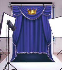 Royal Blue Curtain Backdrop 6.5x10ft Background Studio Photo Props Crown Stage
