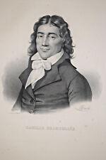 CAMILLE DESMOULINS Portrait LITHOGRAPHIE Gravure Delpech Infolio 1832
