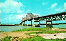 Baton Rouge LA Mississippi River Bridge Postcard unused (13064)