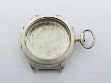 Deco Silver 0,800 Pocket Watch Case Iwc Schaffhausen Antique Swiss Amazing Art