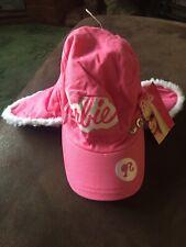 BNWT Sports Direct BARBIE Bright Pink Fleece Lined Trapper Deer Stalker Warm Hat