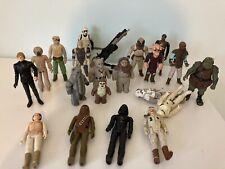 Star Wars Vintage Action Figures 1977 - Darth Vader, Chewbacca, Biker Scout X 20