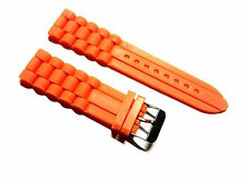 1 BRACELET DE MONTRE watch strap silicone ORANGE 22 mm -C-2