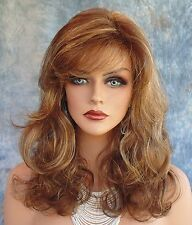 Becky Wig FASHIONABLE  WAVY STYLE BROWN HIGHLIGHTED CARAMEL KISS  NIB W/TAGS *
