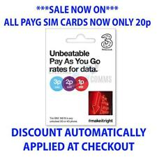 PAYG 3 THREE MULTI SIM CARD - USE IN 71 COUNTRIES AT NO EXTRA COST NOW ONLY 20p
