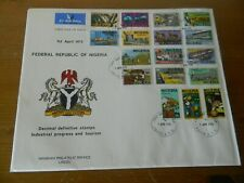 NIGERIA 1973 DEFINITIVE SET OF 17 STAMPS ON FIRST DAY COVER