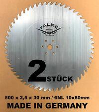 2 STÜCK CV Kreissägeblatt 500 mm 30 mm A56 Wolfzahn Sägeblatt 6NL 10x80mm