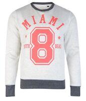 Conspiracy Printed Crew Neck Sweatshirt New Men's Graphic Print Sweat Top Jumper