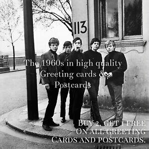 10. Rolling Stones, Cheyne Walk 1963. Quality 1960s Greeting Card. London