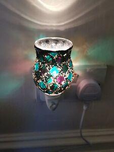 Mosaic Electric Plug-In LED Aroma Diffuser Lamp Oil Burner Warmer