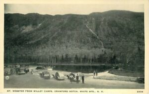 Autos CRAWFORD NOTCH NEW HAMPSHIRE Mt Webster Willey Camps postcard 3722