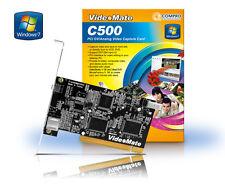 COMPRO C500 Digital PCI FIREWIRE Analog VIDEO / AUDIO CAPTURE CARD, studio 11se