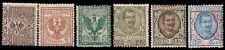 REGNO D'ITALIA 1901 - FLOREALE n.68/70+75+77/78 NUOVI € 196