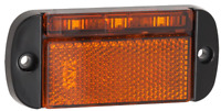 LED AMBER MARKER WITH REFLECTOR TRUCK TRAILER UTE 44AM