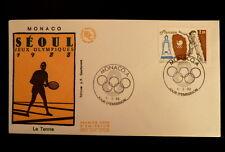 MONACO PREMIER JOUR FDC YVERT  1645     LE TENNIS   , J-O SEOUL      2F   1988