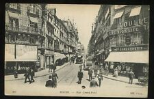 France ROUEN Rue Grand-Pont early PPC The High Life