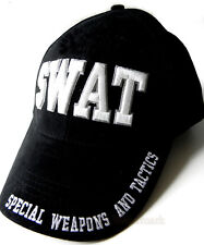 SWAT TEAM SPECIAL WEAPONS AND TACTICS EMBROIDERED BASEBALL CAP