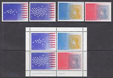 Ireland Sc 390-392, 392b MNH. 1976 US Bicentennial + Souvenir Sheet
