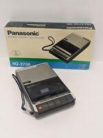 Vintage Panasonic Portable Cassette Tape Recorder RQ-2736 WORKS