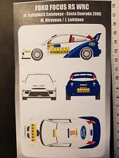 DECALS 1/24 FORD FOCUS RS WRC - #18 - HIRVONEN - RALLYE CATALOGNE 2005 - DC2441